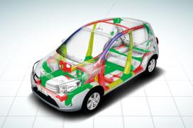 Sztywne nadwozie odporne na deformację Aerodynamiczna bryła pojazdu